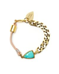 Lizzie Fortunato | Metallic Sacred Valley Turquoise Bracelet | Lyst