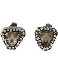 Monique Péan - Black Diamond Triangular Stud Earrings - Lyst