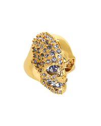 Alexander McQueen | Metallic Two Faced Skull Ring | Lyst