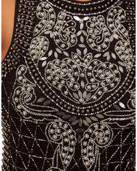 ASOS Collection - Black Premium Unitard with Baroque Tile Embellishment - Lyst