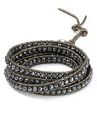 Chan Luu - Gray Leather Wrap Bracelet - Lyst