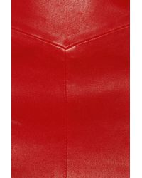 JOSEPH - Red Stretch Leather Pencil Skirt - Lyst