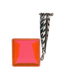 KENZO | Orange Hard Plexiglass Clutch | Lyst