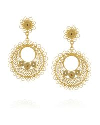 Mallarino | Metallic Rocio Small 24karat Goldvermeil Filigree Earrings | Lyst