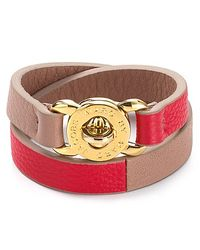 Marc By Marc Jacobs | Red Katie Double Wrap Leather Bracelet | Lyst