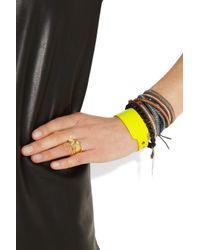McQ - Yellow PVC Bracelet - Lyst