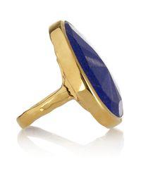 Monica Vinader - Blue Siren 18karat Goldvermeil Lapis Lazuli Ring - Lyst