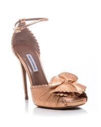 Tabitha Simmons | Metallic Ruby Sandals | Lyst