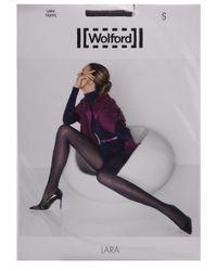 Wolford | Black Lara Tights | Lyst