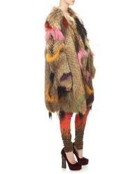 Wunderkind | Multicolor Dip Dyed Fur Coat | Lyst