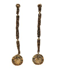 Brevard | Metallic Four Part Diamond Earring | Lyst