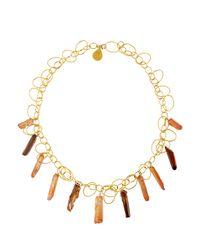 Devon Leigh | Metallic Crystal Quartz Link Necklace | Lyst