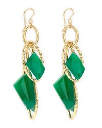 Devon Leigh | Green Onyx Earrings | Lyst