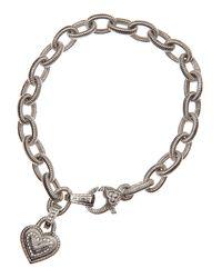 Judith Ripka | Metallic Heartcharm Chain Bracelet | Lyst