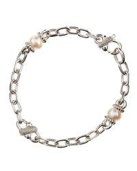 Judith Ripka | Metallic Pearl Xlink Bracelet | Lyst