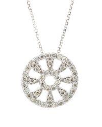 KC Designs - Metallic Pave Wheel Pendant Necklace - Lyst