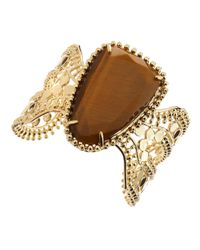 Kendra Scott - Metallic Abena Tiger Eye Cuff - Lyst