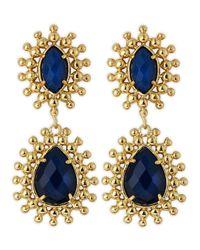 Kendra Scott | Blue Onyx Earrings | Lyst
