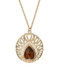 Kendra Scott - Metallic Cecelia Tigers Eye Necklace - Lyst