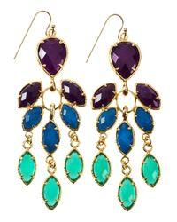 Kendra Scott - Multicolor Gem Trifacet Earrings - Lyst