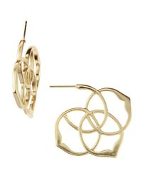 Kendra Scott | Metallic Inca Hoop Earrings | Lyst
