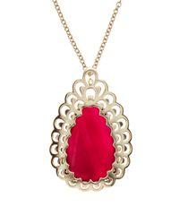Kendra Scott | Newlyn Pink Agate Necklace | Lyst
