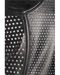 La Perla | Black Lacetrimmed Perforated Leather Corset Dress | Lyst