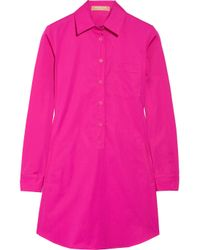 Michael Kors | Pink Cotton Tunic Dress | Lyst