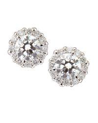 Neiman Marcus   Metallic Diamond Stud Earrings   Lyst