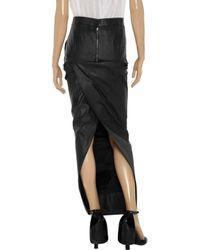 Rick Owens - Black Long Slitted Skirt - Lyst