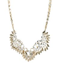 Swarovski | Metallic Angel Wing Necklace with Stones | Lyst