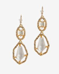Alexis Bittar | Metallic Bel Air Gold White Doublet Drop Earrings | Lyst