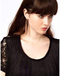 ASOS - Metallic Looped Back Chain Earrings - Lyst
