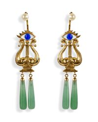 Delfina Delettrez | Green Gold Plated Silver Eyes On Me Earrings | Lyst