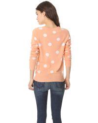 Equipment Orange Sloane Dot Cashmere Sweater