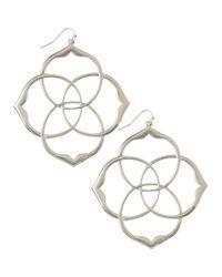 Kendra Scott - Metallic Rajan Intersecting Earrings - Lyst