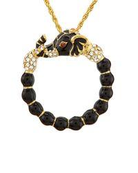 Kenneth Jay Lane - Metallic Elephant Magnifying Glass Necklace - Lyst