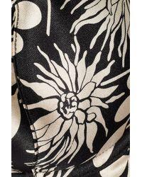 Stella McCartney - Black Ilda Driving Printed Stretch Silk-satin Contour Bra - Lyst