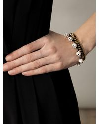 Venessa Arizaga - Black Fools Gold Skull Charm Bracelet - Lyst