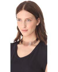 Adia Kibur - Metallic Collar Necklace - Lyst
