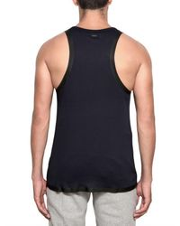Adidas SLVR | Blue Cotton and Silicon Tape Tank Top for Men | Lyst
