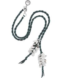 Giles & Brother | Metallic Wheat Silverplated Leather Necklace | Lyst