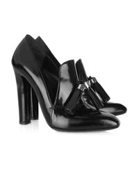 Alexander Wang - Black Anais Leather Loafer Pumps - Lyst