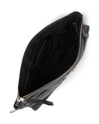 Balenciaga - Black Medium Creased-leather Pouch for Men - Lyst
