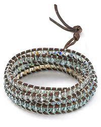Chan Luu | Blue Five Leather Wrap Light Azure Mix Bracelet | Lyst