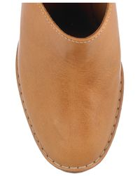 Chloé - Brown Leather Wedge Mules - Lyst