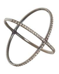 Eva Fehren Metallic Diamond X Ring