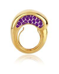 Kara Ross | Purple 18karat Goldplated Water Monitor Ring | Lyst
