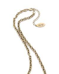 Adia Kibur   Metallic Hammered Link Necklace   Lyst