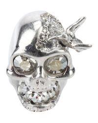 Alexander McQueen | Metallic Skull Bird Ring | Lyst